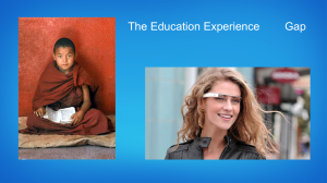The Education Experience Gap